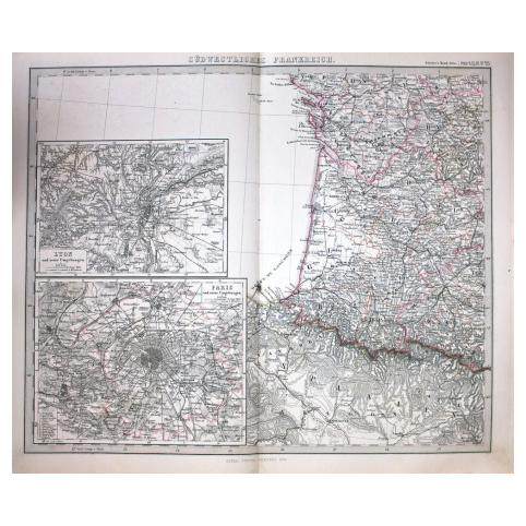 Карта «Юго-Западная Франция»