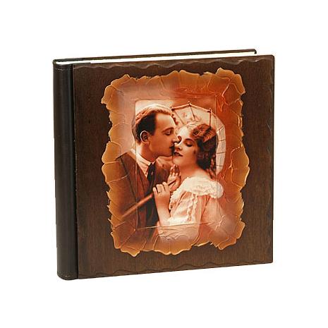 Фотоальбом свадебный с деревянной обложкой