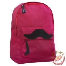 Красный рюкзак Большие Усы