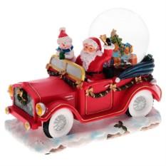 Музыкальная композиция Санта в автомобиле с подсветкой