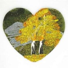 Большой магнит с рисунком Сердце