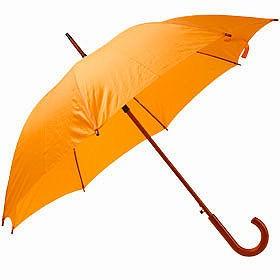 Зонт UNIT STANDART с деревянной ручкой, оранжевый