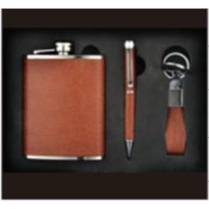 Подарочный набор Фляжка, ручка и брелок