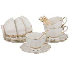 Чайный сервиз из 18 предметов с ложками