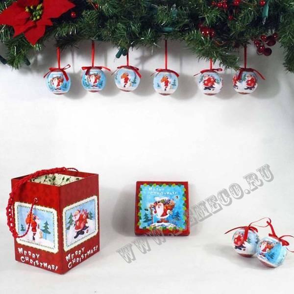 Набор новогодних украшений Шар в музыкальной коробке