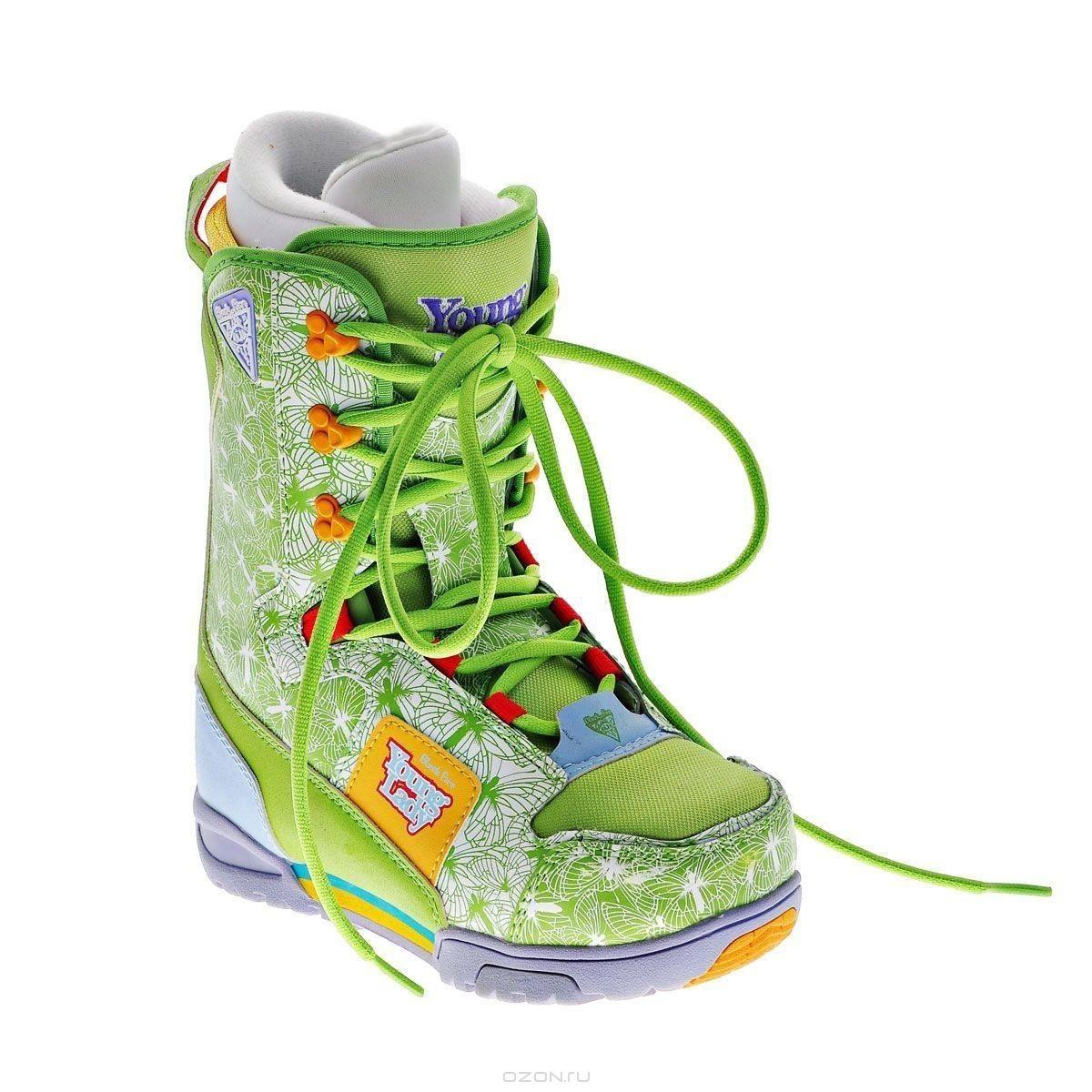 Ботинки для сноуборда Black Fire Junior Girl, зеленый. Размер 36