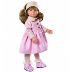 Кукла Нелли в розовом пальто, 43 см