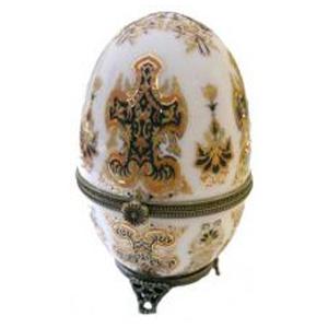 Шкатулка фарфоровая Яйцо d=6см, 10см