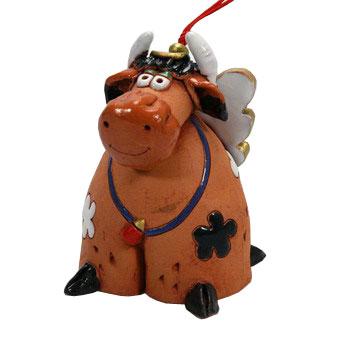 Декоративная фигурка-колокольчик «Корова»