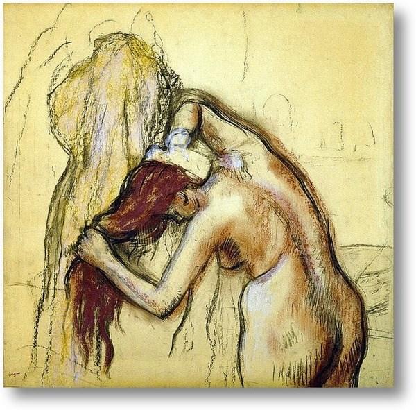 Репродукция картины Моющая себя женщина