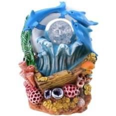 Декоративный фонтан с подсветкой Дельфины