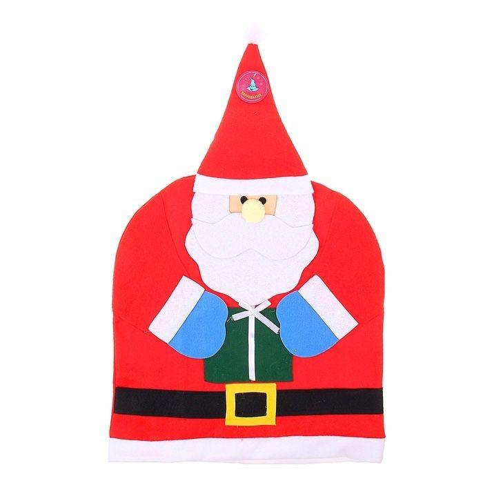 Чехол на спинку стула Дед Мороз