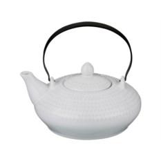 Белый керамический заварочный чайник, объем 500 мл