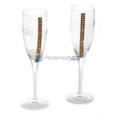 Бокалы для шампанского с кристаллами Swarovski