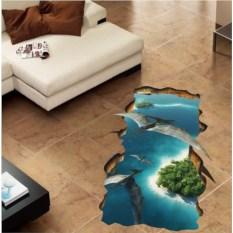 Напольный 3D-стикер Тропический остров