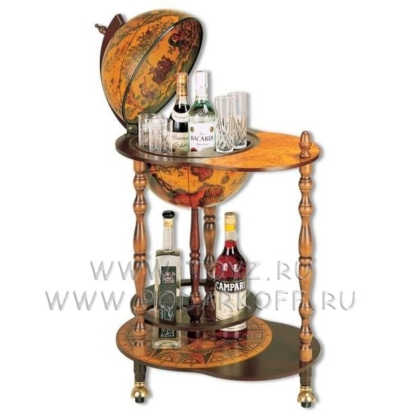 Глобус-бар столик напольный