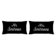 Именные парные подушки «Mr. и Mrs.»