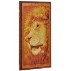Малые нарды в деревянном коробе Лев