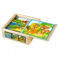 Кубики Весёлые животные