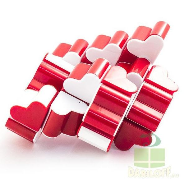 Пластиковая головоломка Змейка из сердечек