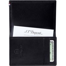 Черная кожаная визитница Dupont