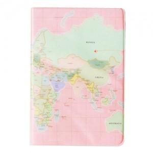 Обложка для паспорта Москва-Нью-Йорк розовая