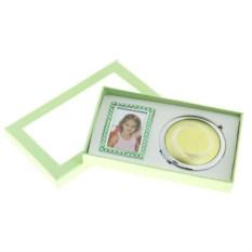 Зеленый подарочный набор Зеркало и фоторамка