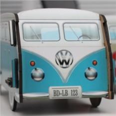 Голубой настольный органайзер VW Camper