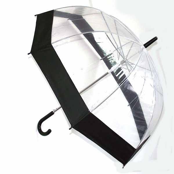 Зонт с прозрачным куполом и черной окантовкой