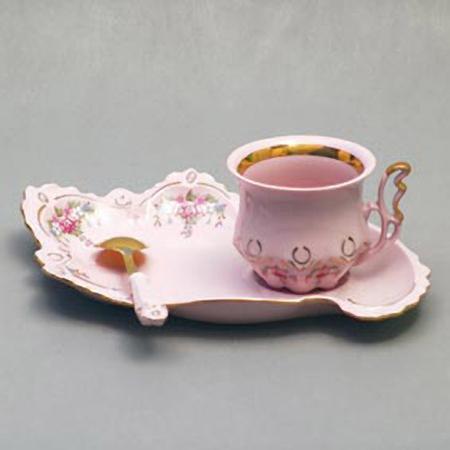 Чашка с ложкой «Ленка»