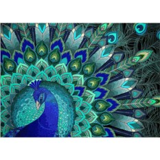 Набор для вышивки стразами «Узоры павлина»