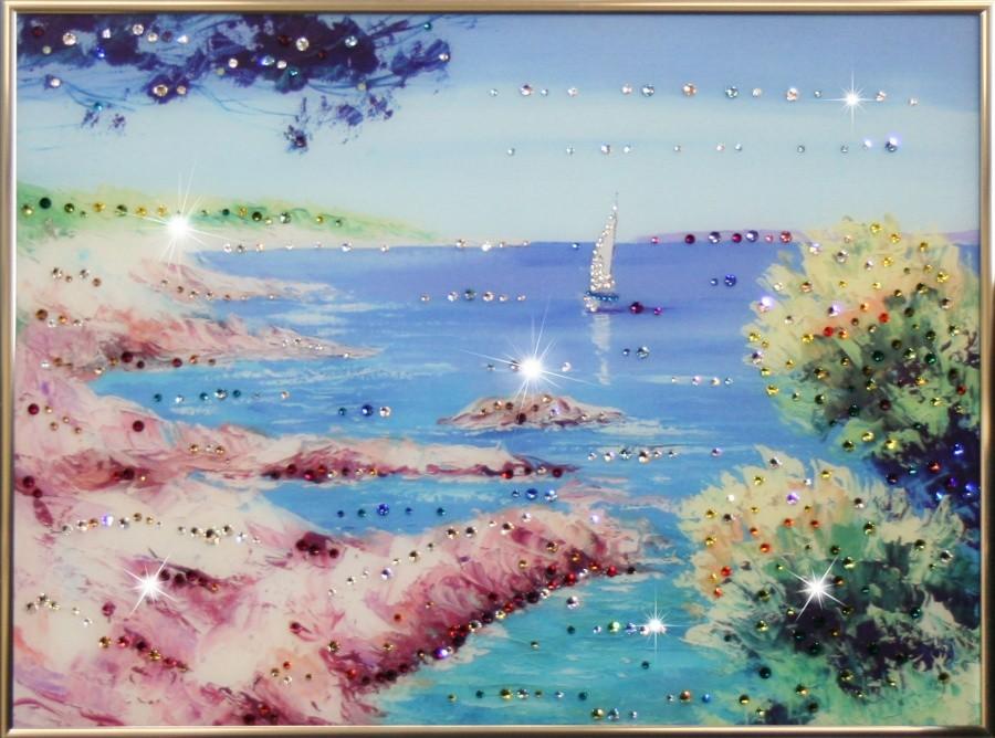 Картина с кристаллами Swarowski Морской пейзаж