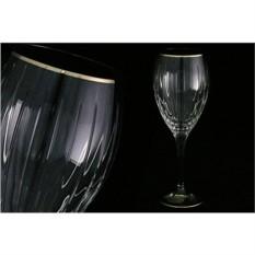 Набор бокалов для вина Пиза. Серебряный ободок