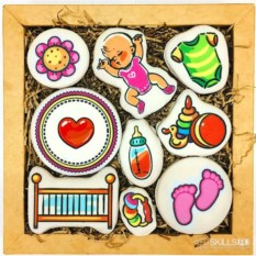 Большой набор печенья С рождением дочки