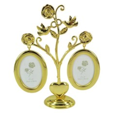 Фоторамка Розы золотого цвета