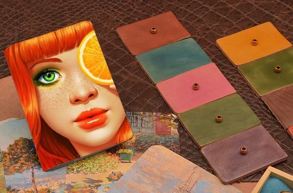 Обложка для паспорта / автодокументов Апельсиновая девушка