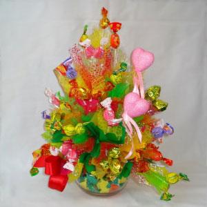 Букет из конфет «Сердечный привет»