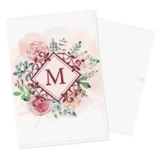 Обложка на паспорт с вашей монограммой «Цветочная»