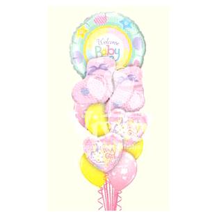 Букет из шаров «Малыш-девочка носочки»