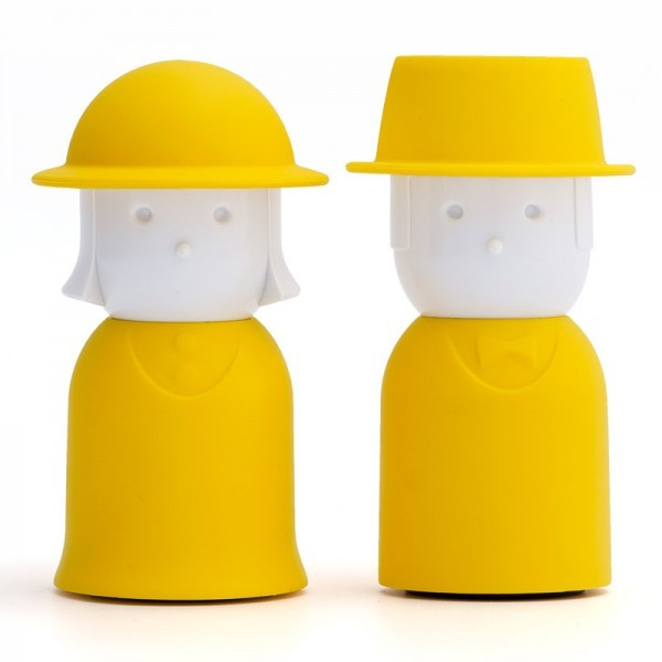 Желтая Солонка и перечница Mr. Pepper & Mrs. Salt