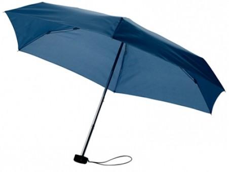 Темно-синий складной механический зонт в футляре