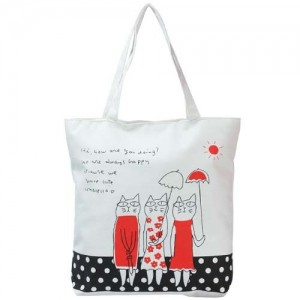 Легкая шоппинг-сумка Kitties (черный газон)