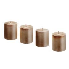 Свеча Mi Stripes коричневого цвета