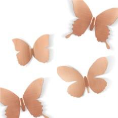 Бронзовый декор для стен Бабочки