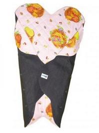 Детский конверт Denim Style Pink c прорезями для ремней