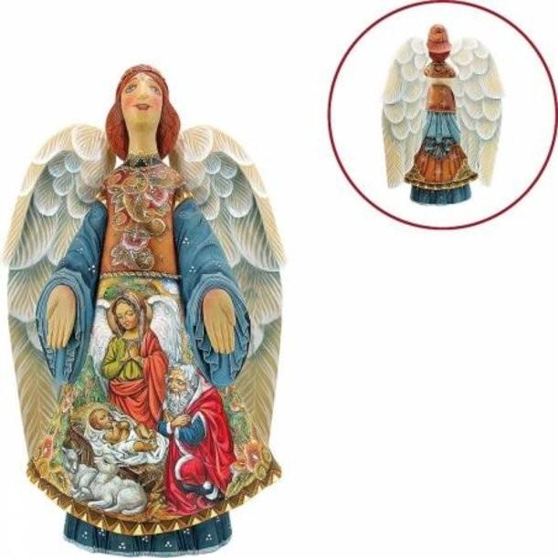Коллекционная новогодняя игрушка Ангел