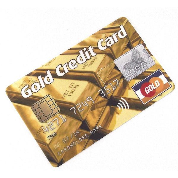 Флешка в виде кредитной карты Gold Слитки 8 GB