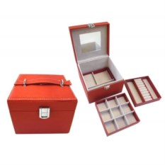 Оранжевая шкатулка, размер 16х16х12 см