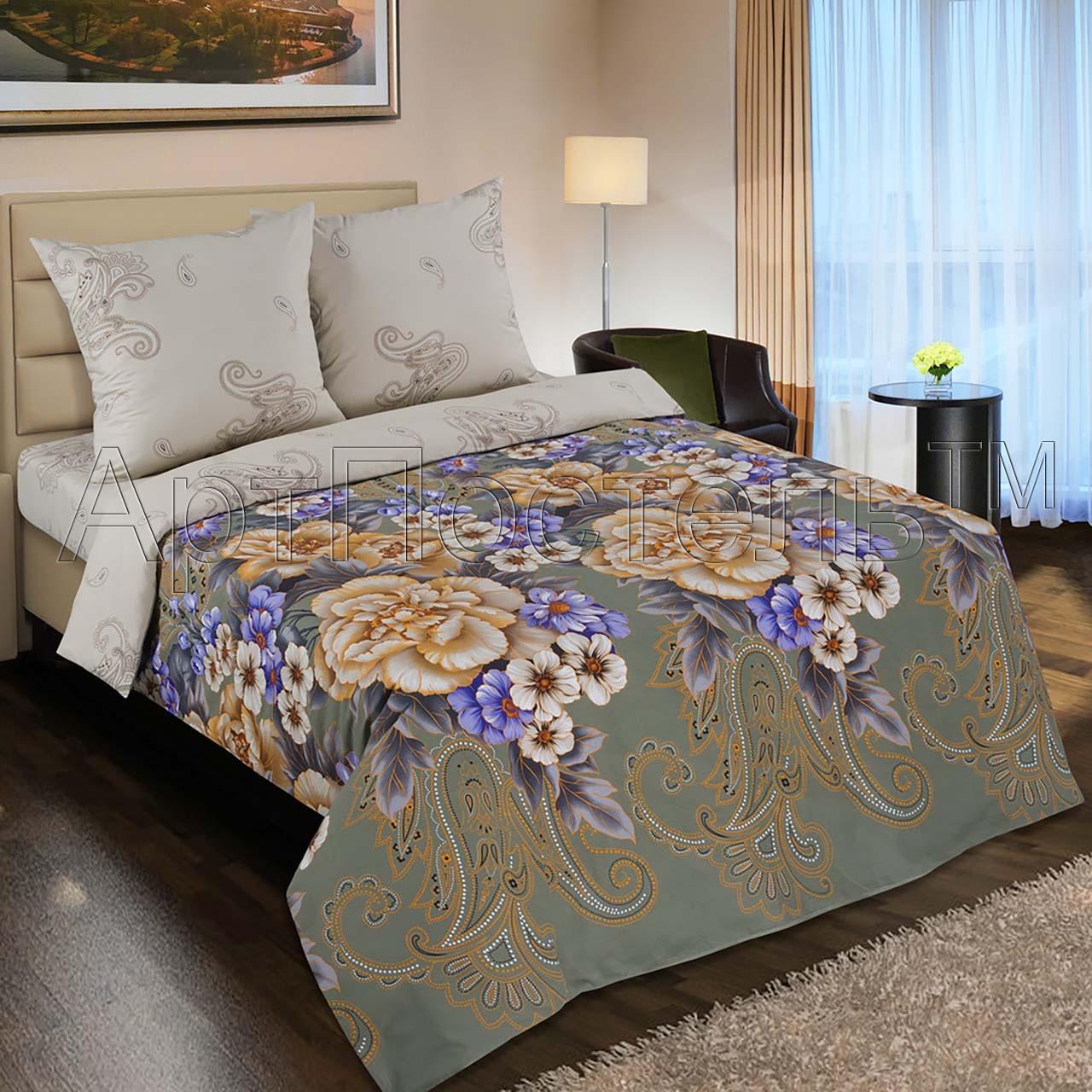 Комплект постельного белья Золотая вышивка (евростандарт)