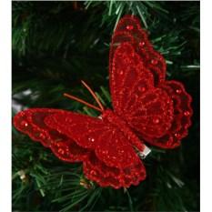 Украшение декоративное Красная бабочка